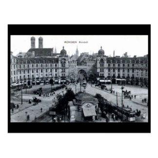 Old Postcard - Rondell, Munich, Germany