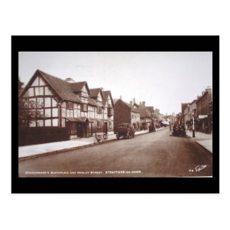 Old Postcard - Shakespeare's Birthplace in 1937