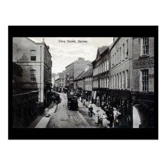 Old Postcard - Shop St, Galway, Ireland