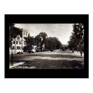 Old Postcard, St Giles, Oxford Postcard