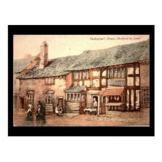 Old Postcard - Stratford-upon-Avon, Shakespeare's