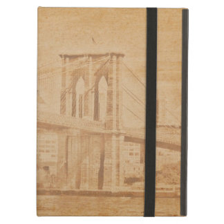 Old Postcard Style Brooklyn Bridge iPad Air Covers