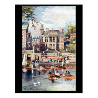 Old Postcard - Town Hall, Richmond, London.