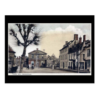 Old Postcard - Town Hall, Woodstock, Oxfordshire