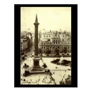 Old Postcard - Trafalgar Square, London