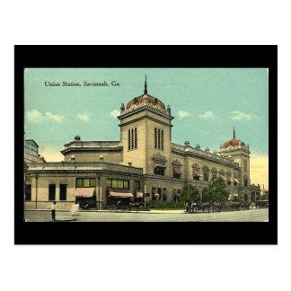Old Postcard, Union Station, Savannah, Georgia Postcard