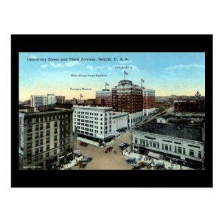 Old Postcard - University St, Seattle WA