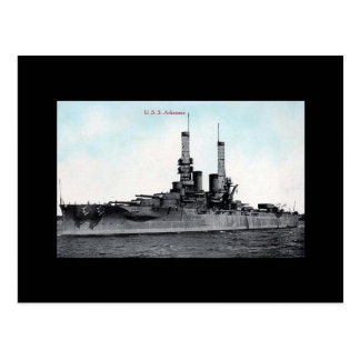 Old Postcard - USS Arkansas