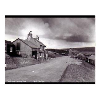 Old Postcard - Warren House Inn, Dartmoor