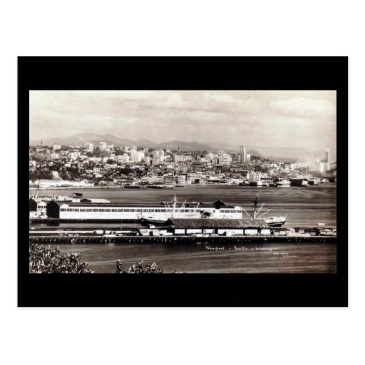 Old Postcard - Waterfront, Seattle, Washington