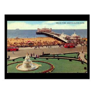 Old Postcard, Weston-super-Mare, Grand Pier Postcard