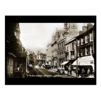 Old Postcard - Wind Street, Swansea