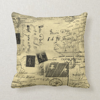 Old Postcards Large Pillow Cushions