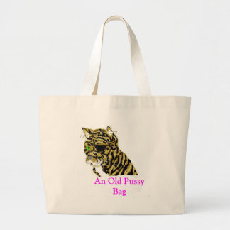 Old Pussy  Cat Jumbo Tote Bag
