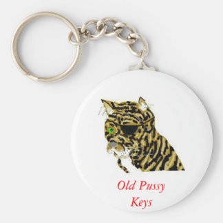 Old Pussy  Cat Keychains