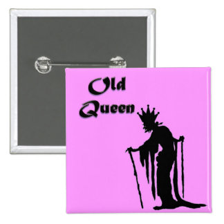 Old Queen 15 Cm Square Badge