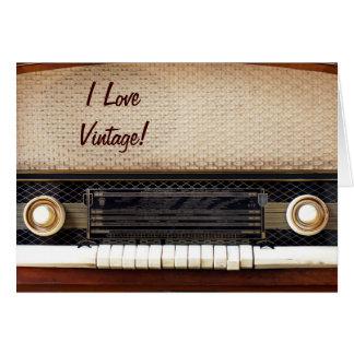 Old Radio Card