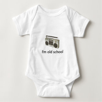 old radio, I'm old school Baby Bodysuit