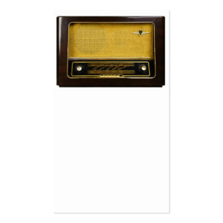 old radio pack of standard business cards