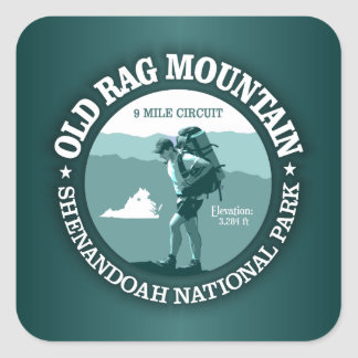 Old Rag Mountain (rd) Square Sticker