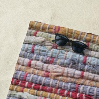 Old Rag Rug Beach Towel
