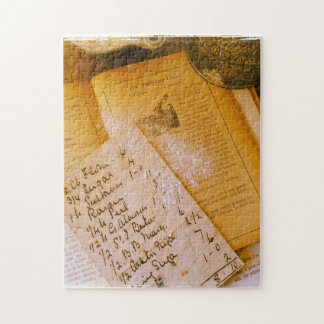 Old recipes jigsaw puzzle
