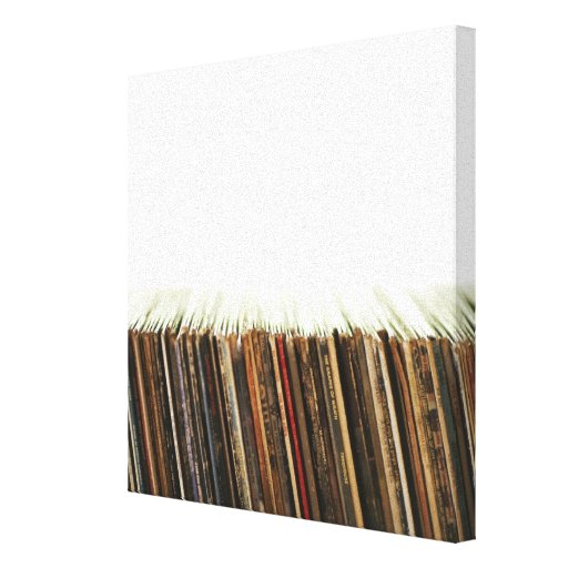 Old Records Gallery Wrap Canvas