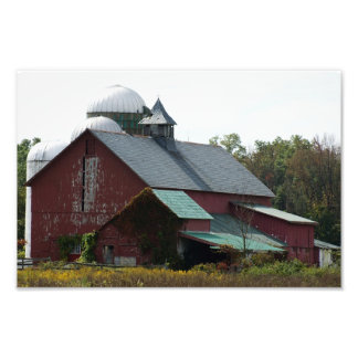 Old Red Barn 12 x 8 Photographic Print