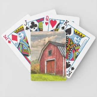 Old Red Barn Watercolor Orford Bicycle Playing Cards