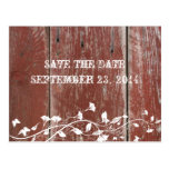 Old Red Barn Wood Save the Date Post Cards