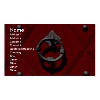Old red door in Zurich, Switzerland Business Card Template
