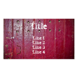 Old red door standard size pack of standard business cards