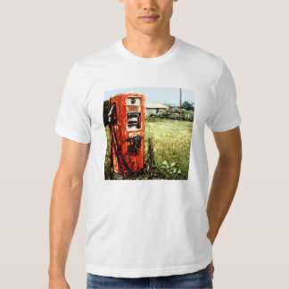 OLD RED GAS PUMP ALTERED PHOTO T-SHIRT