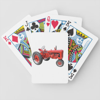 Old Red Tractor Poker Deck