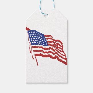 Old Red White and Blue Gift Tags