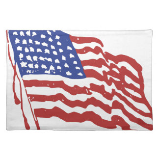 Old Red White and Blue Placemat