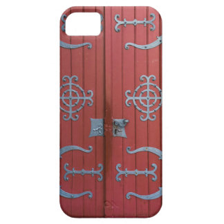 Old Red  Wood Doors With Gray Iron Supports Barely There iPhone 5 Case