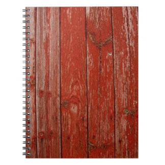Old red wood notebooks