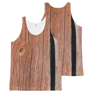 Old red wooden wallboards All-Over print singlet