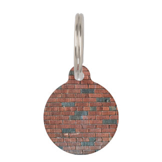 Old Reddish/Brownish Brick Wall Pet Tag