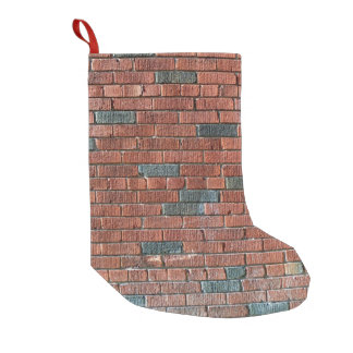 Old Reddish/Brownish Brick Wall Small Christmas Stocking