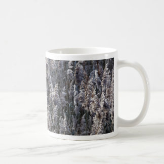 Old reed grass on a winter day. coffee mug