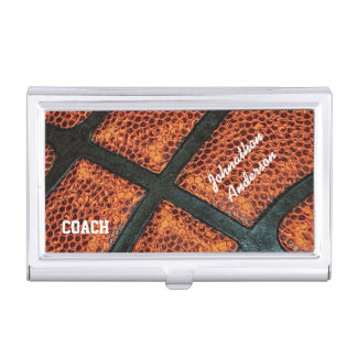 Old Retro Basketball Autographed Coach Business Card Holder
