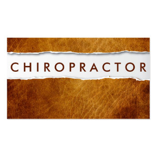 Old Ripped Paper Chiropractor Business Card