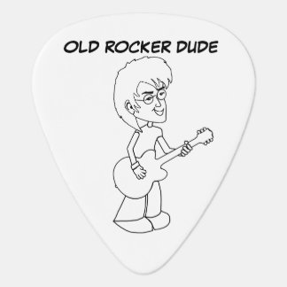 Old Rocker Dude Plectrum