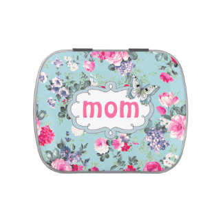 Old Rose Design Mother's Day Gift Candy Jelly Belly Candy Tin