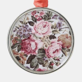 old roses vintage fabric premium ornament