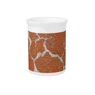 Old russet color on concrete beverage pitcher