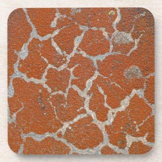 Old russet color on concrete drink coaster