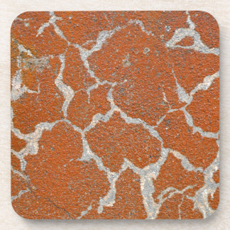 Old russet color on concrete drink coasters